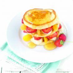 Pancake integrali con frutta mista - Tutte le ricette dalla A alla Z - Cucina Naturale - Ricette, Menu, Diete