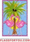 Moonlight Flamingos Garden Flag