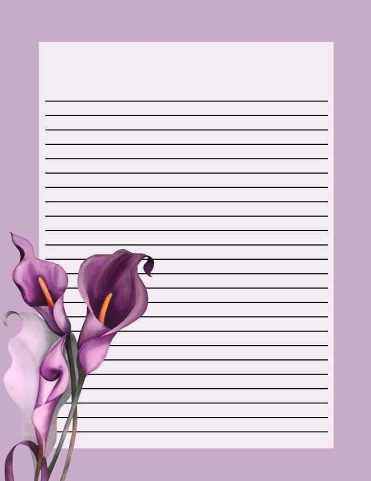 Callas · Note PaperWriting PapersStationeryPrintablePaper