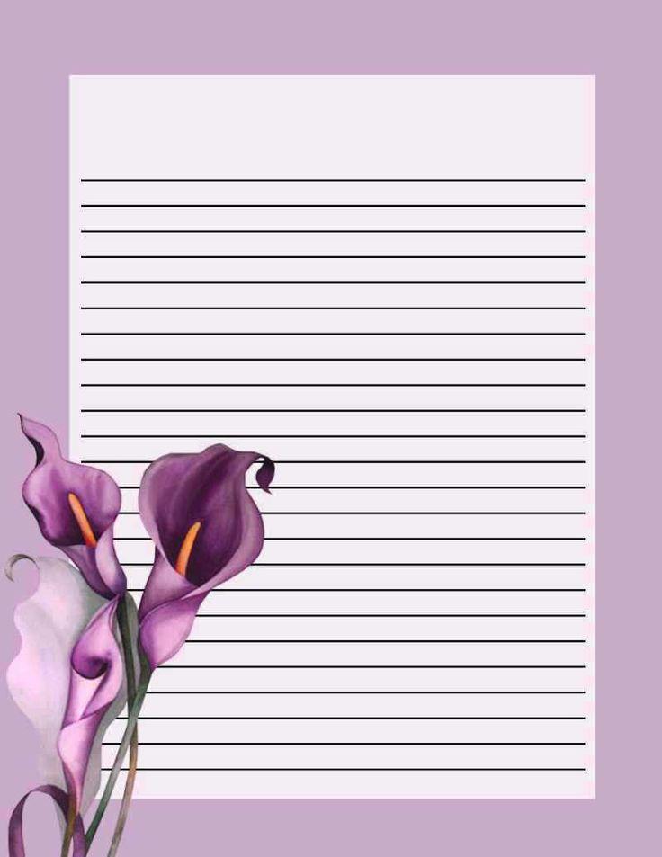 Printable Notepad Paper Simple 419 Best Hojas Para Eacribir Images On Pinterest  Leaves Flowers .