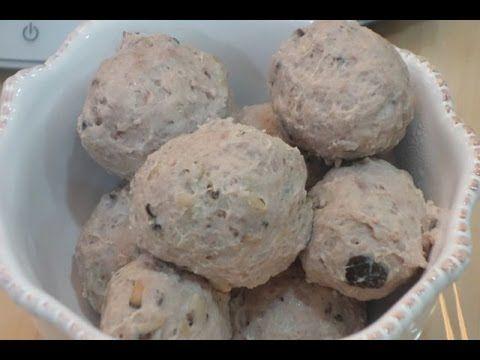 手做食譜 手工自製 香菇貢丸 彈牙媲美撒尿牛丸 Thermomix 美善品 工具 影音食譜 CHINESE MEAT BALL WITH MUSHROOM Meatballs - YouTube