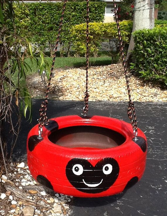 25 best ideas about painted tires on pinterest bunch of for Tyre swing ideas