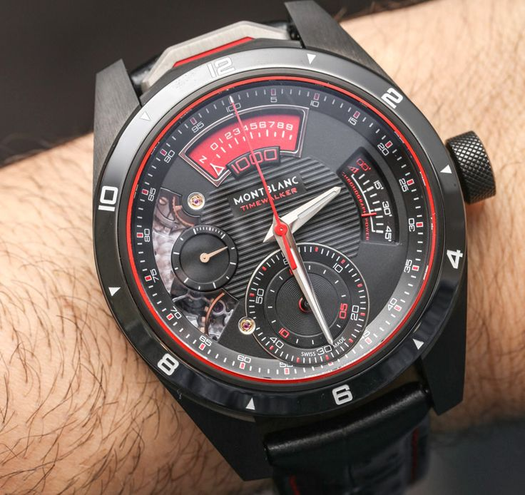 We got our Hands-On on the new and mechanically very interesting Montblanc TimeWalker Chronograph 1000 Limited Edition 18 - chronograph can measure events up to 1/1000th of a second... Read our article: http://www.ablogtowatch.com/montblanc-timewalker-chronograph-1000-limited-edition-18-watch/