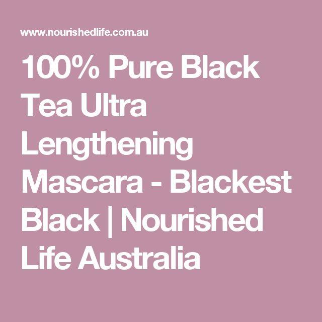100% Pure Black Tea Ultra Lengthening Mascara - Blackest Black | Nourished Life Australia