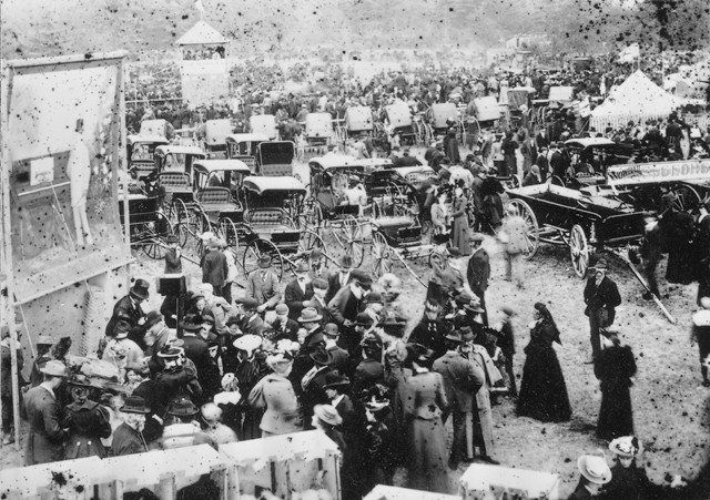 A fair in the Dundas Driving Park, probably about 1898.