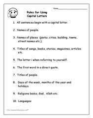 capital letters worksheet 17 best images about capital letters on anchor 20778