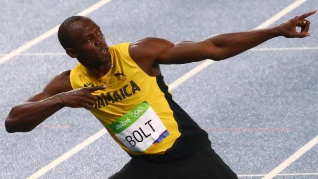 Usain Bolt wins the men's 200m final to claim his second gold medal at Rio 2016…