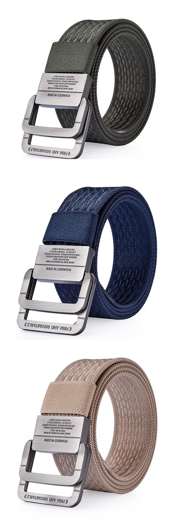 Flash deal: US$12.44 + Free shipping. Men's belt, men's buckle belt, nylon belt, double ring belt, alloy buckle belt, military durable belt, outdoor sport pants strip. Length:120cm/47.24'', double ring buckle.