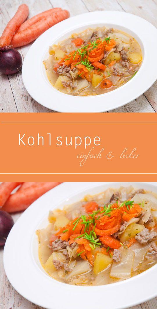 Einfache und leckere Weißkohl Suppe mit Hackfleisch und Kartoffeln - sehr gesund und lecke. Hat nur wenige Kalorien!