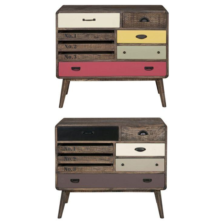 Vintage 60s Drawer - Χειροποίητο έπιπλο από μασίφ ξύλο μάνγκο  Διαθέτει 8 συρτάρια, διαφόρων μεγεθών (με οδηγούς)Σε τρία χρώματα: - Orange version (Πορτοκαλί / Πράσινο Lime / Κίτρινο) - Pale Version (Kαφέ / Χακί / Λευκό) - Bright Version (Κόκκινο / Λευκό / Κίτρινο)