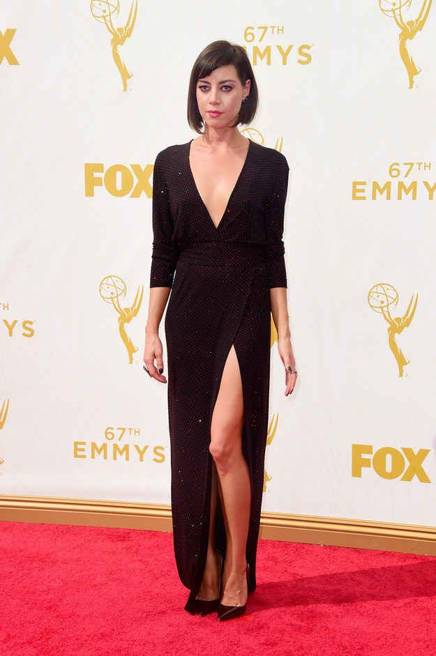 1. Aubrey Plaza Attends The 67th Annual Primetime Emmy Awards