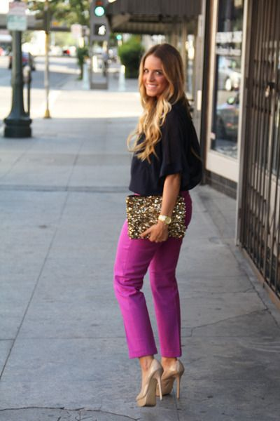 I love everything abou this outfit. And it really reminded me of you, @Ashley Bryant. : )