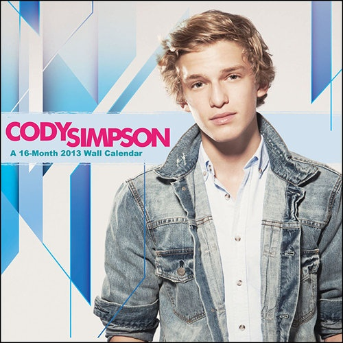 Cody Simpson Wall Calendar: At the tender age of 12, Australian Cody Simpson was discovered performing pop songs on YouTube in 2009. Since then, he's catapulted to fame in the United States, signing with Atlantic Records and Poe Boy Music Group, and working with the likes of Flo Rida.  $14.99