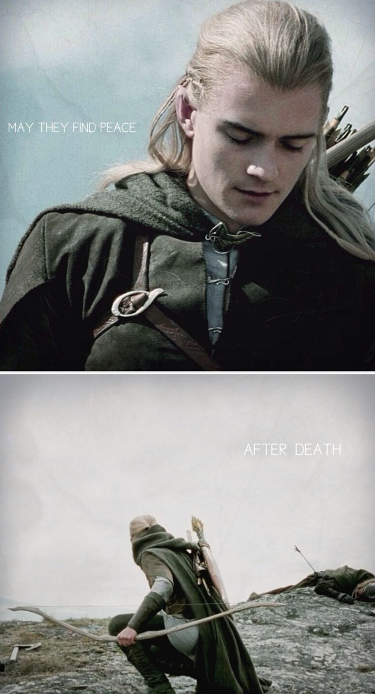 """After Merry's and Pippin's """"deaths,"""" Legolas uttered a prayer in Elvish for them."""