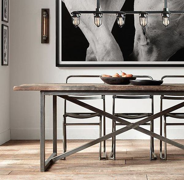 25 Best Ideas About Industrial Dining Rooms On Pinterest Industrial Dining Industrial Dining