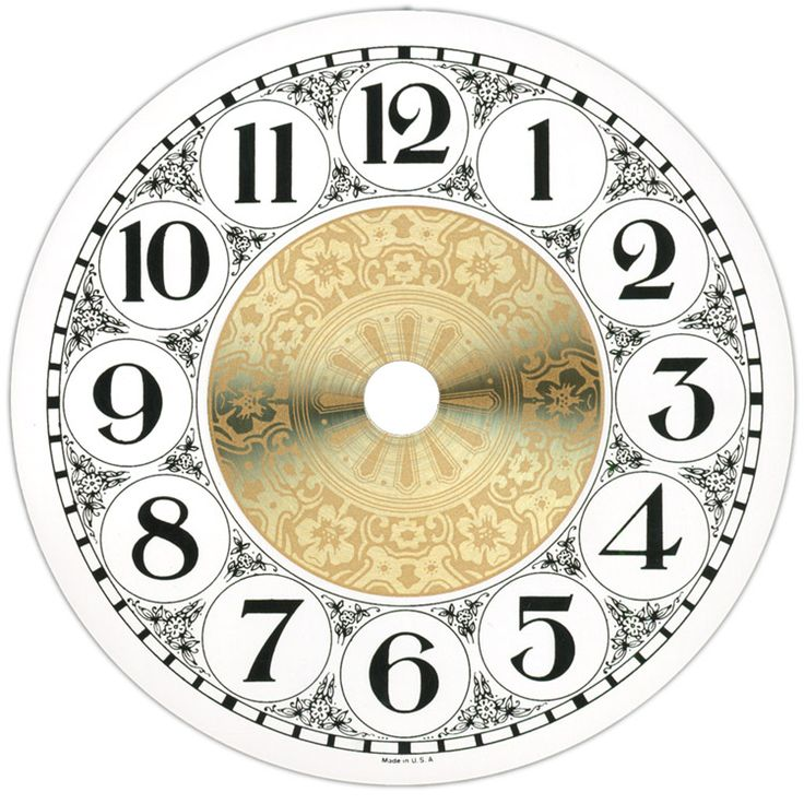 Clock Face Szukaj W Google Zegary Decoupage
