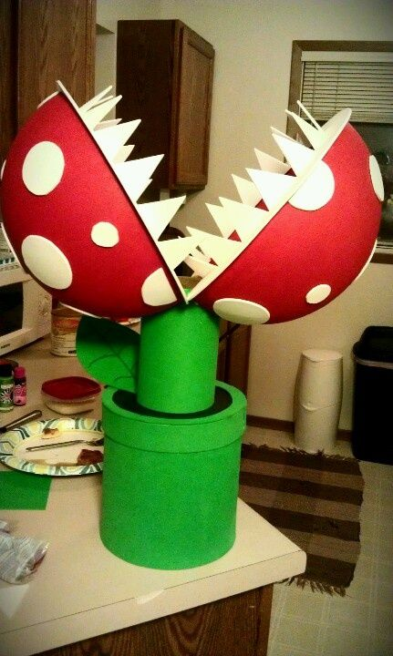 Mario plant Valentine's Day Box | Mario Valentines Day box..this is what happens when your parents are ...