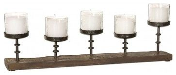 www.essentialsinside.com: ascan, 5 candle antiqued black cast iron candelabra contemporary-candleholders