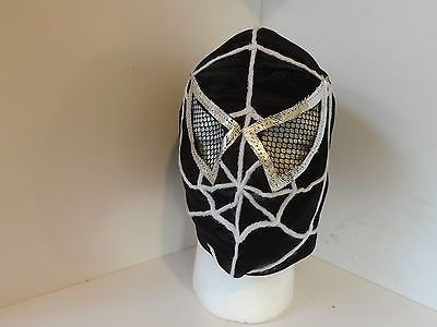 kids #spiderman black #wrestling mask lucha libre #wrestler wwa wwf tna (u),  View more on the LINK: 	http://www.zeppy.io/product/gb/2/252701895774/
