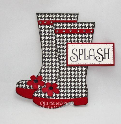 rain bootsCards Ideas, Rain Boots, Shaped Cards, Houndstooth Rain, Happy Rainboots, Rain Drops, Paper Crafts, Boots Sho Cards, Rainy Days