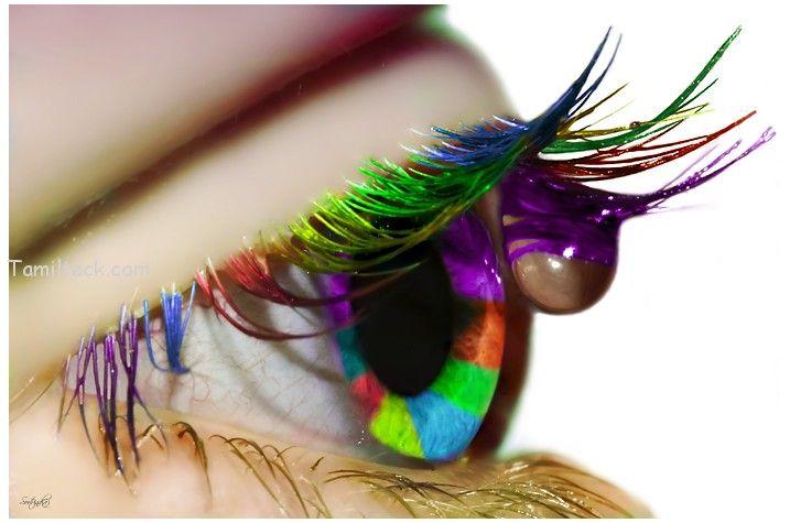 Multi color Eyes make-up