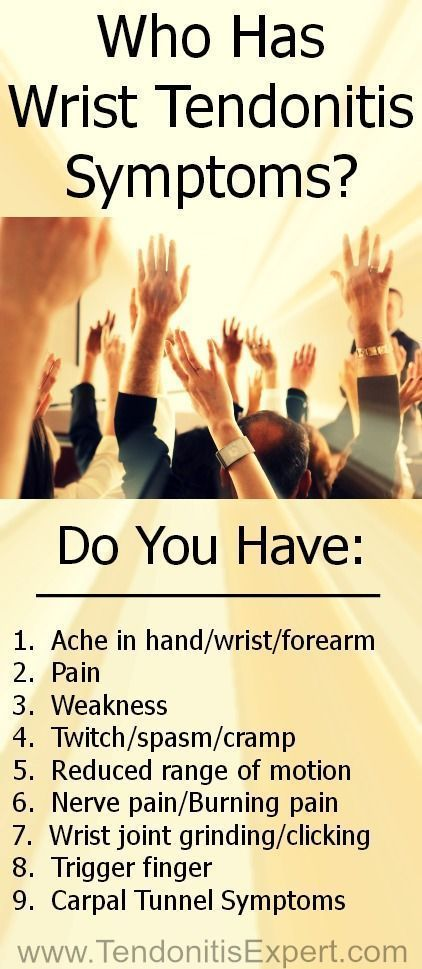 Do you have Wrist Tendonitis Symptoms? Think you have Carpal Tunnel Syndrome but really have symptoms of wrist tendonitis?