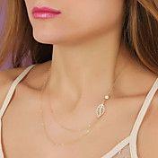 feuille de mode de forme de perle collier pen... – EUR € 2.87
