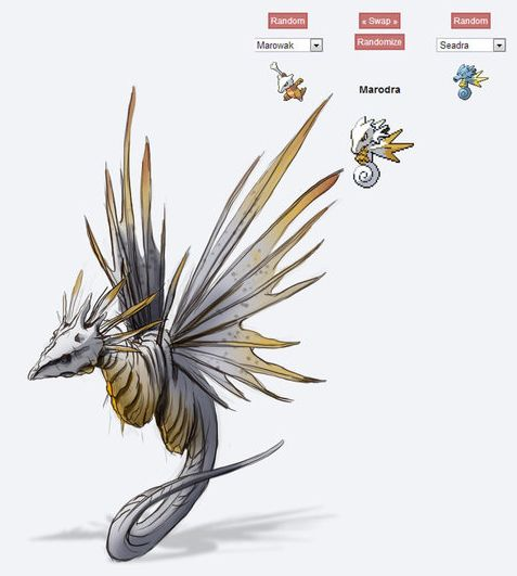 Interesting source of creature inspiration - Pokemon Fusion - Imgur