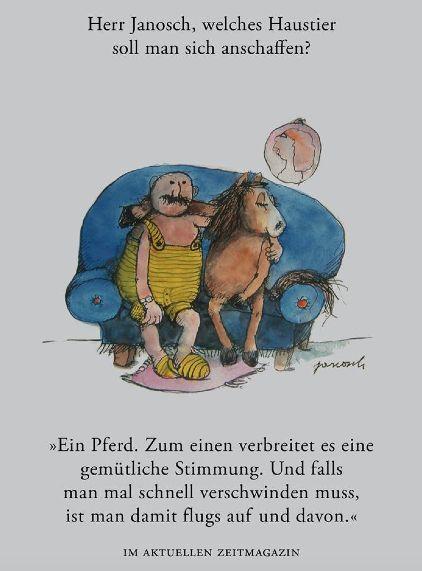 Herr #Janosch, welches Haustier soll man sich anschaffen?