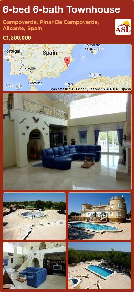 6-bed 6-bath Townhouse in Campoverde, Pinar De Campoverde, Alicante, Spain ►€1,300,000 #PropertyForSaleInSpain