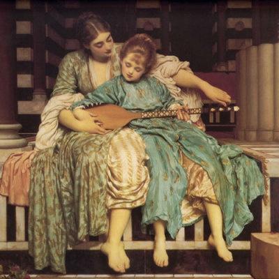 """""""Music Lesson"""" by Edmund Blair Leighton"""