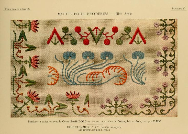 Motifs pour broderies. (IIIme série) No. 13