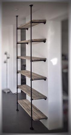 Afbeeldingsresultaat voor boekenplank met stalen frame