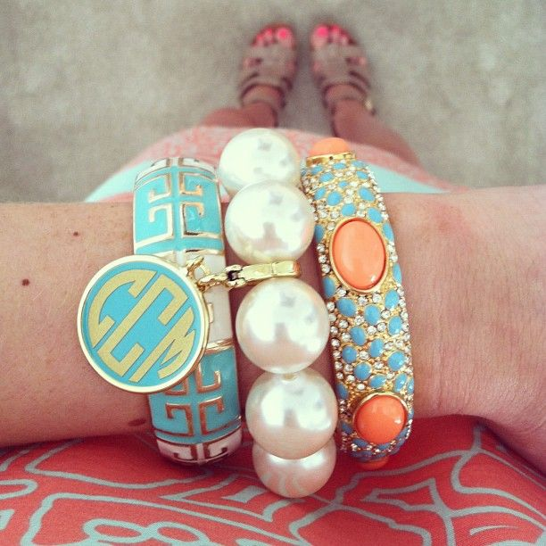 Monogrammed arm candy!