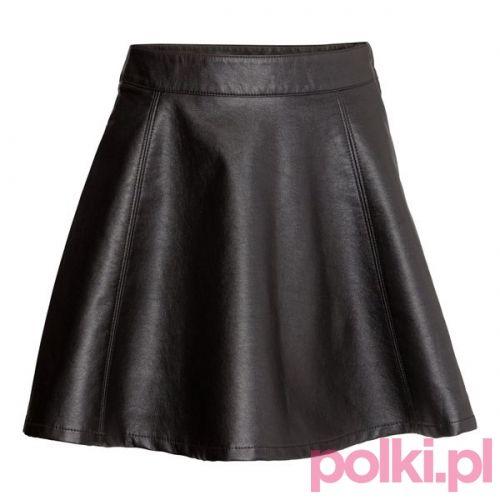 Skórzana spódnica, H&M #polkipl