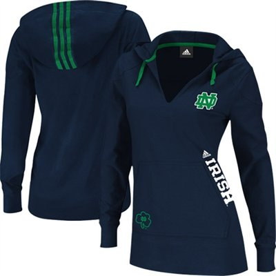 Adidas Notre Dame Fighting Irish Ladies Campus Intersect Hooded Long Sleeve T-Shirt Size M