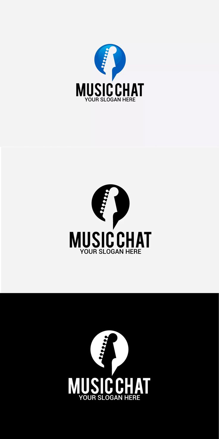 Music Chat Logo Template AI, EPS #unlimiteddownloads
