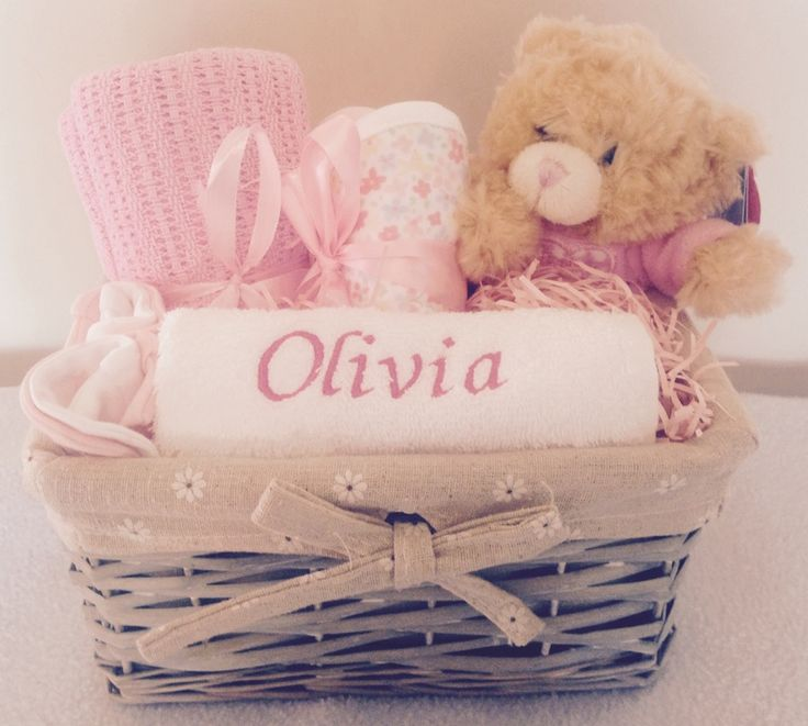 Image of Betsy the Bear - Personalised Baby Girl Gift Basket