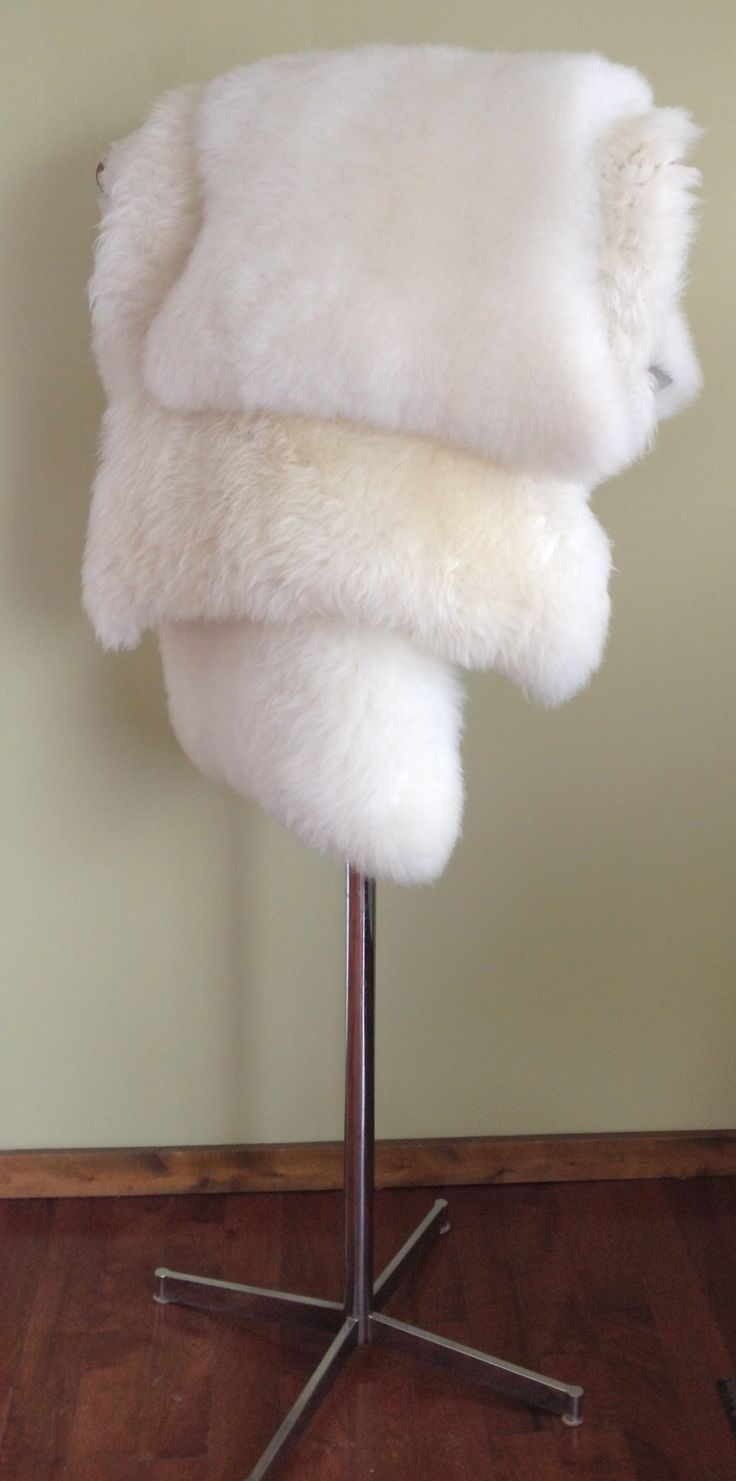 Our Infant and Large sheepskins are tanned and processed right here in Ontario.  Super soft, so luxurious, and practical too.  Machine washable.  www.lamblicious.ca
