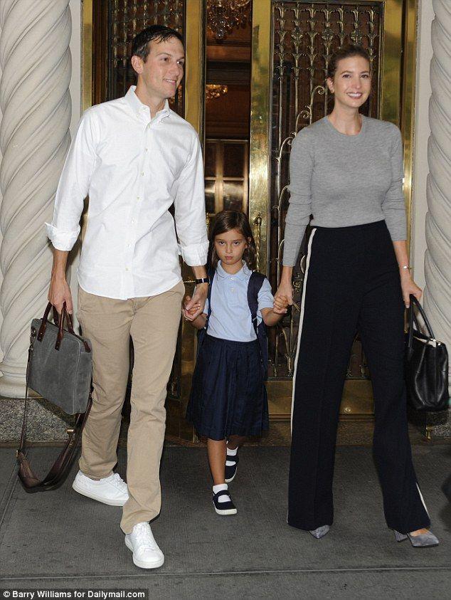 Major milestone: Ivanka Trump and her husband Jared Kushner took their daughter Arabella to her first day of kindergarten this week