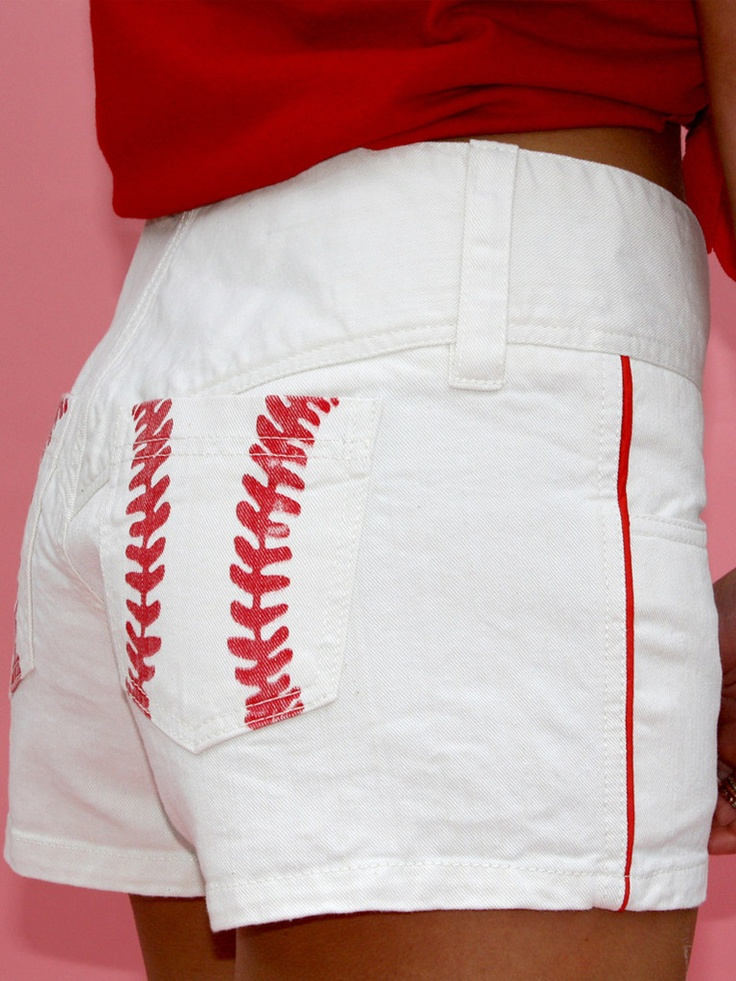 Love these ❤White Shorts, Clothing, Cute Baseball Shirts, Basebal Shorts, Baseball Seasons, Basebal Seasons, Cards Games, Baseball Games, Baseball Shorts