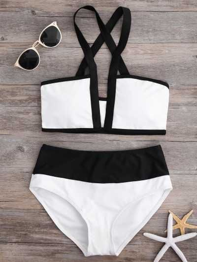 Bikini recortado de dos tonos Two-tone trimmed bikini  Caracteristicas Del Producto: - Swimwear Type: Bikini - Gender: For Women - Material: Polyester