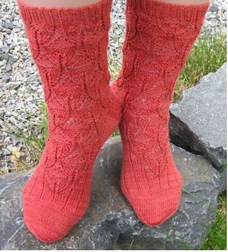 Ravelry: Orelia Rose Socks pattern by Cynthia Levy