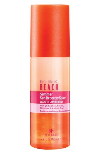 Free shipping and returns on ALTERNA® 'Bamboo Beach - Summer Sun' Recovery Spray Leave-In Conditioner (Limited Edition) at Nordstrom.com. Combat the damaging effects of the sun, pool and saltwater while giving your hair vital UV protection with a leave-in conditioner by ALTERNA that smells like luscious mango-coconut. It works to revitalizes locks for sexy, healthy hair that shines.