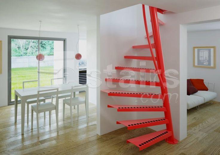 De 25 bedste id er inden for escalier colima on p pinterest subtile esca - Escalier colimacon gain de place ...