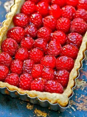 Deborah Madison's take on Lindsey Shere's minimalist raspberry tart.