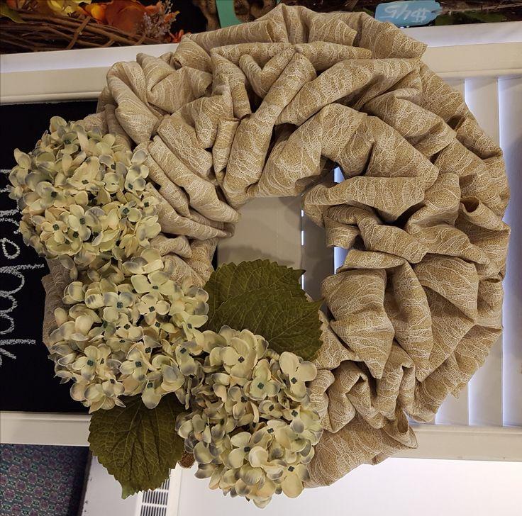 Lace Burlap Wreath with Flowers . . #goldenforrest #goldenforrestcreations #burlap #burlapwreath #handmade #wreathideas #frontdoordecor #flowers #flowerwreath #spring #lace