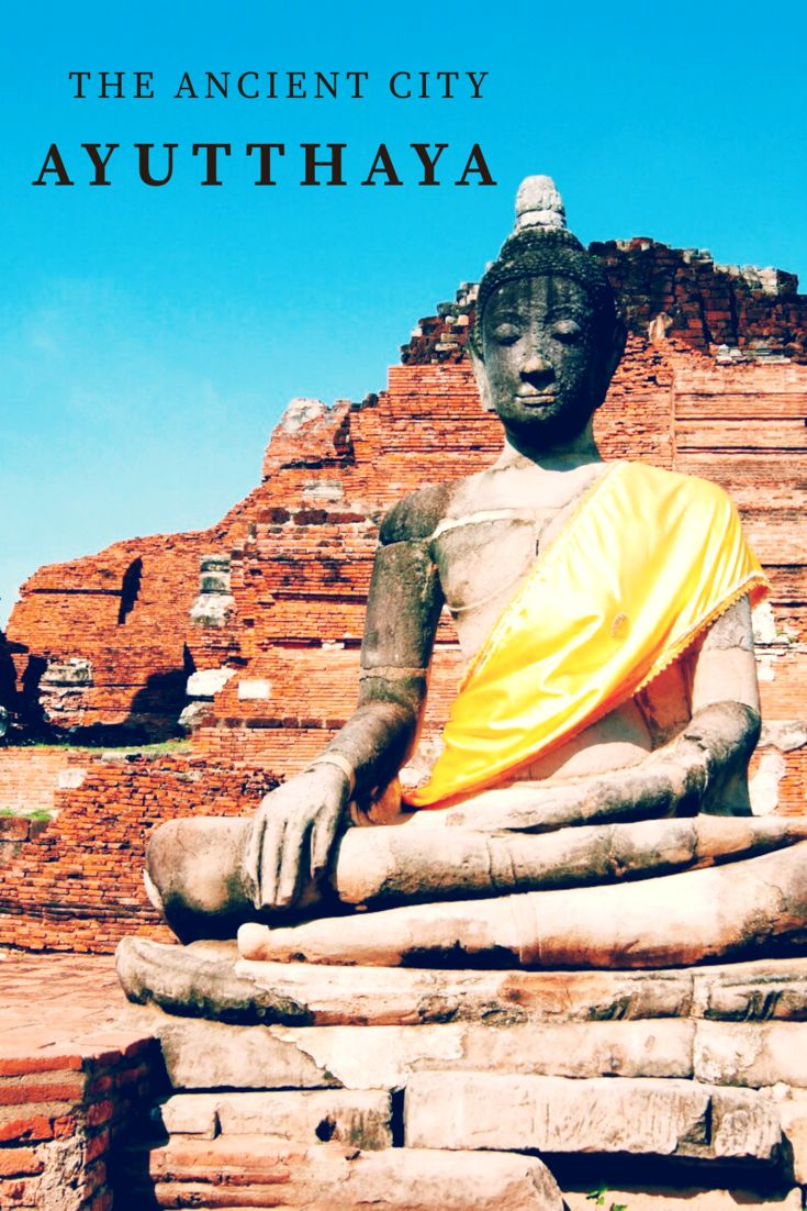 The ancient abandoned city of old Thailand. Temple, Ayutthaya Historical Park