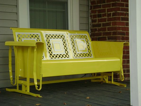 Powdercoated Restored Vintage Metal Patio Gliders - Vintage Gliders