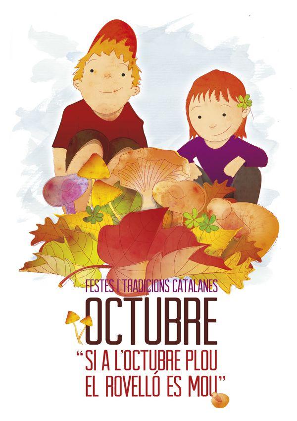Festes i tradicions: Bolets a la tardor by magimó , via Behance #rovellons #setas #otoño #autumn #nens #niños #children #octubre #october